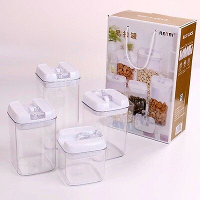 Food Storage Container Nut Almond Pistachio Airtight Leakproof Lid litre Box Set
