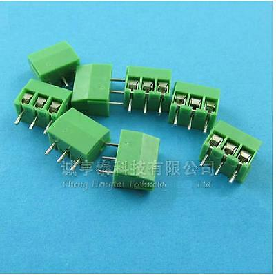 20pcs 3.5mm Pitch 3 pin Straight Pin PCB Screw Terminal Blocks Connector NEW