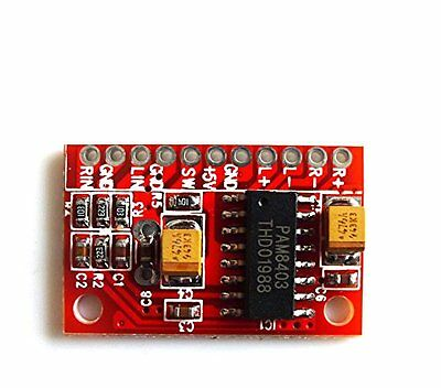 2Pcs 3W×2 Mini Digital power Audio Amplifier Board USB 5V Power Supply Arduino