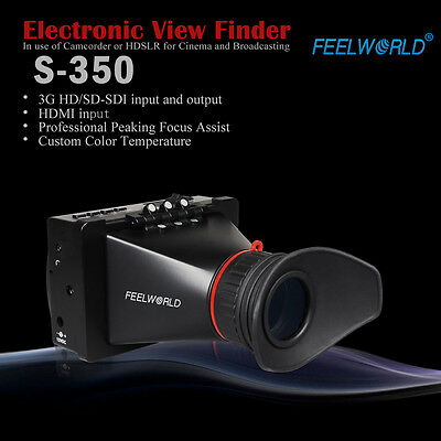 "Pro 3.5"" Feelworld EVF View Finder LCD Electronic Monitor SDI HDMI F BMCC BMPCC"