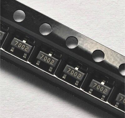100PCS 2N7002 702 SOT-23( SMD ) N-Channel 60V 115mA MosFET NEW