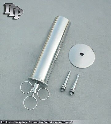 Metal EAR Syringe 60ml DDP Instruments. Shipping Included