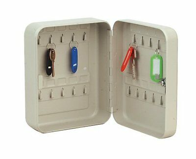 Key Cabinet SAFE Metal Secure Cupboard + 20  Key Tags  Corrosion Resistance