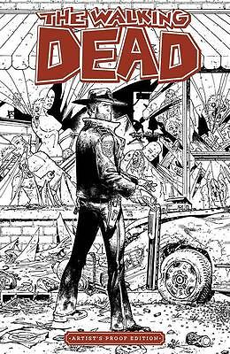 "Walking Dead #1 Image Giant Sized B&W Artist Proof 11"" x 17""  Tony Moore 2015"