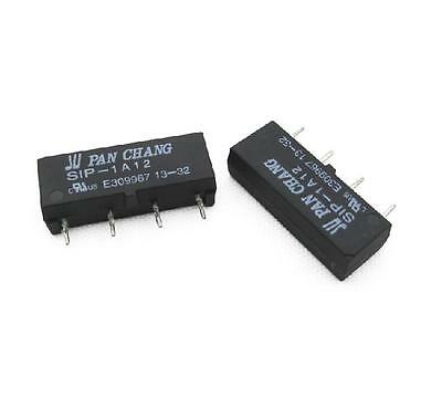 2pcs 12V Relay SIP-1A12 Reed Switch Relay 4PIN Relay for PAN CHANG Relay
