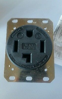 NIB HBL9430A Hubbell Receptacle 30A 125/250V  3 Pole 4 Wire Grounding
