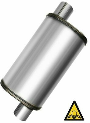 """2.5"""" Inlet 2.5"""" Outlet Performance Universal Max Flow SS Muffler"""