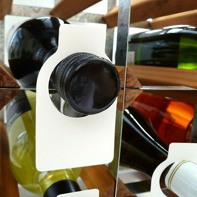 Wine Bottle Neck Tags Plastic x 100. Delivery is Free