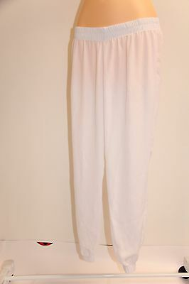dd609c819e MIKEN WHITE CROCHET Wide Leg Swimsuit Cover Up Pants Size Medium NWT ...