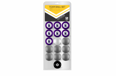 OFFICIAL NRL RUGBY LEAGUE FOOTBALL FOOTY MELBOURNE STORM POOL BALLS Full Set