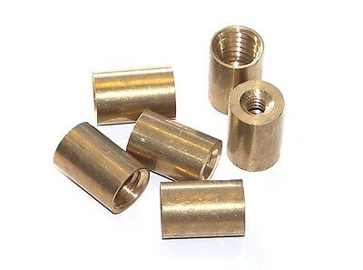Pool Snooker Billiard Cue Tip Brass Ferrules, suit Screw in type tips 10mm