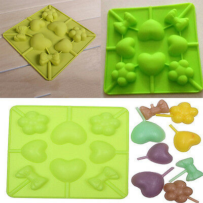 Practical Heart Bowknot Shape Cake Tools Chocolate Lolly Baking Candy DIY Moulds