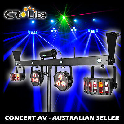 CR LITE Mix Party Bar MultiFX Lighting, Laser, Strobe & LED Derby, Wireless Ctrl