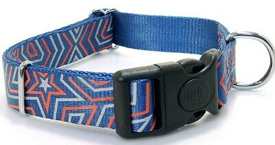 Dog Collar Double Lock Neon Light Reflective Soft Strong 3 Colours Xs S M L Xl