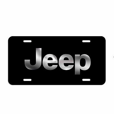 Jeep License Plate Made In The USA Metal car tag wrangler cherokee truck LC009