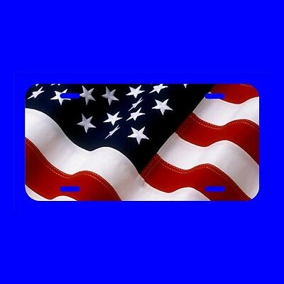United States Flag License Plate Made In The USA Metal  tag US patriot LST018