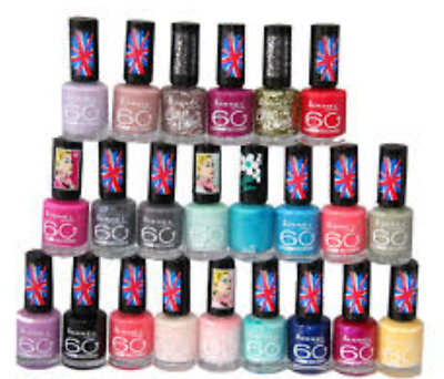 Rimmel 60 Seconds Nail Polish Varnish 8Ml Brand New **choose Shade**