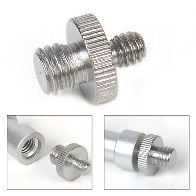 "For Camera Flash Tripod Monopod Ballhea 1/4"" to 3/8"" Male Threaded Screw Adapter"
