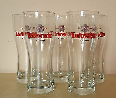 Karlovacko Pivo, Best Croatian Beer Glass 0.3l, 6 Available
