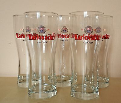 Karlovacko Pivo, Best Croatian Beer Glass 0.3l, 7 Available