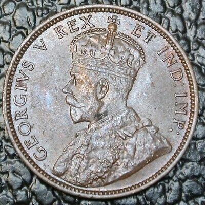OLD CANADIAN COIN - 1911 LARGE CENT ONE CENT - George V - Nice Detail