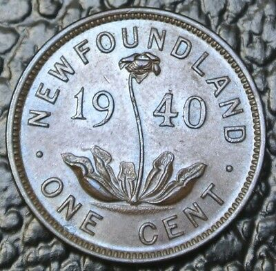 1940 NEWFOUNDLAND ONE CENT - George VI - WWII era - Nice
