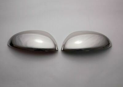 Stainless Steel 2pc Chrome Door Wing Mirror Cover Set for Nissan Juke (11-14)