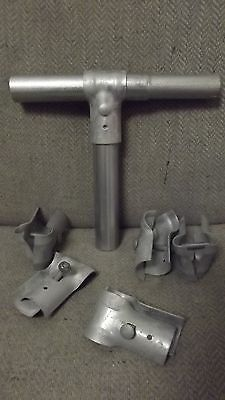 """1 5/8"""" I.D. Galvanized T- Clamps for Chain Link Fence 6 PACK Master Halco Kennel"""