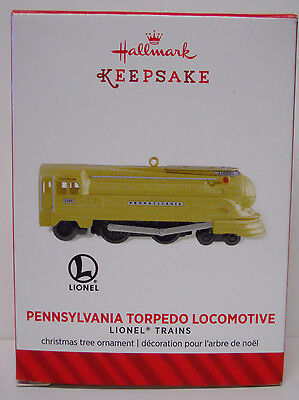 2014 Hallmark Limited Ornament Lionel Pennsylvania Torpedo Locomotive-QXE3746