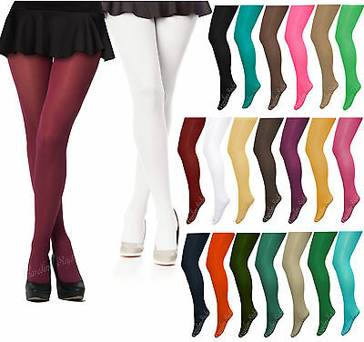 Opaque Microfibre Tights Various Colours-60 Denier Sizes S-XL