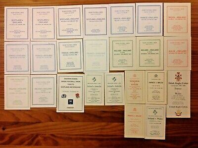 Rugby International Itinerary Cards 1981 - 2014