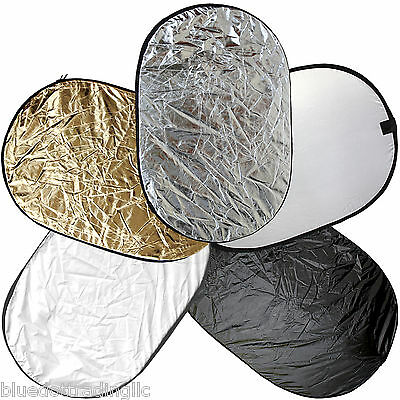 100*150cm 5-in-1 Photography Studio Multi Photo Disc Collapsible Light Reflector