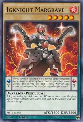 3 x Igknight Margrave (CORE-EN030) - Common - Near Mint - 1st Edition