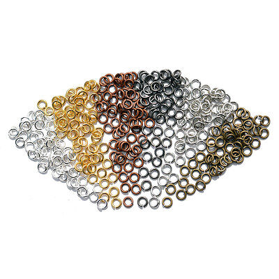 Steel Gold Silver Plated Super Strong Jump Rings Connector 4/5/6/8/10/12/14/20mm