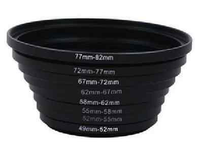 Metal Step Up Rings Lens Filter Stepping Adapter 49-52-55-58-62-67-72-77-82mm CA