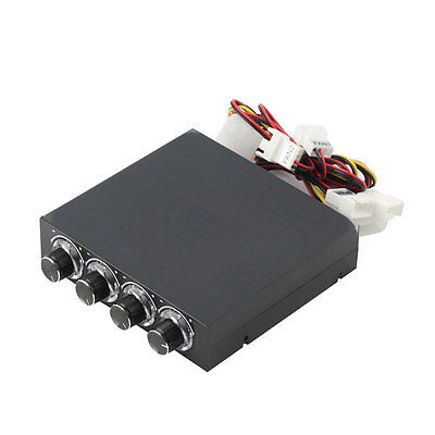 3.5inch PC HDD CPU 4 Channel Fan Speed Controller Led Cooling Front Panel GT