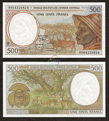 CENTRAL AFRICAN STATES REPUBLIC 500 Francs, 1999, P-301F f, UNC