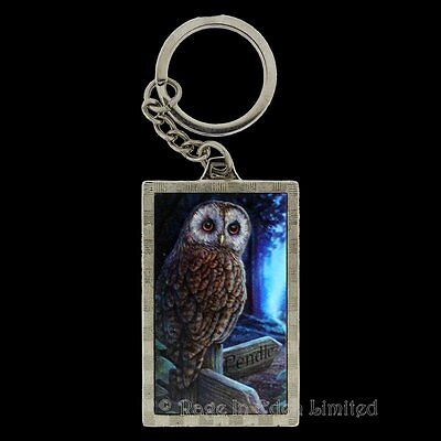 *WAY OF THE WITCH* Goth Fantasy Pendle Owl Art 3D Keyring By Lisa Parker