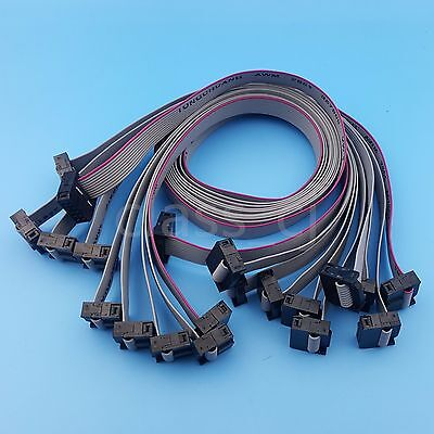 10Pcs 50cm 10Pin IDC Flat Ribbon DATA Cable 2.54mm Pitch AVR ISP JTAG  Wire