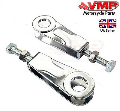 Yamaha YBR 125 YBR125 Rear Wheel Chain Adjusters Pullers 15mm All Years