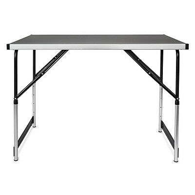 Multi-purpose Folding Table 100x60cm Camping Party Table Adjustable in Height