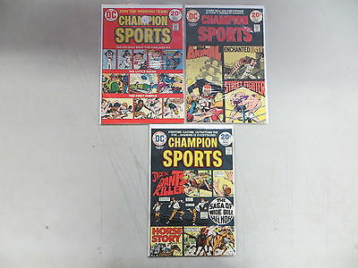 Champion Sports 3 Issue Bronze Comic Run Lot 1 2 3 Dc