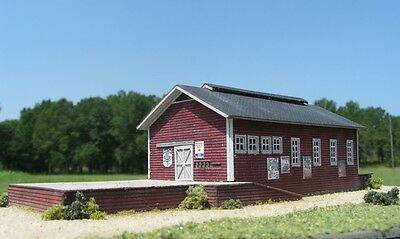 Z Scale Freight and Packing Shed Building Kit for Model Railroad Hobby (4700)