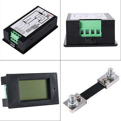 DC 100A LCD Voltage Current KWh Watt Car Battery Panel Power Monitor Combo Meter