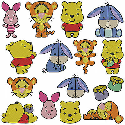 CUTIE POOH * Machine Embroidery Patterns * 15 designs, 3 sizes