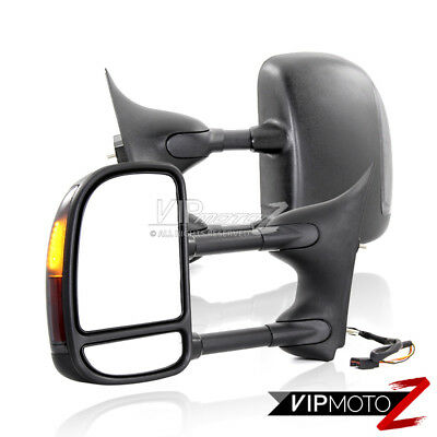 POWER+HEAT+LED SIGNAL 99-07 Ford SuperDuty SD Truck Towing Tow LH+RH Side Mirror