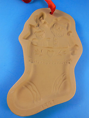 Brown Bag Cookie Art Press Santa's Stocking 1997 EUC