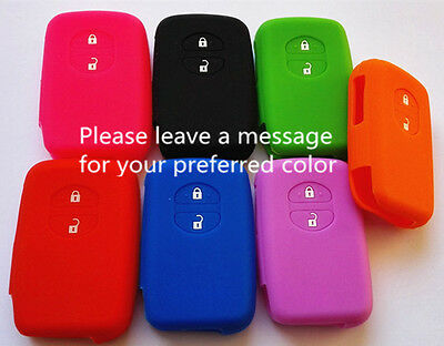 Silicone 2 Button Toyota Car Key Cover  Case