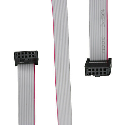 1Pcs  IDC 10Pin Hard Drive Data Extension Wire Flat Ribbon Cable Connector 50cm