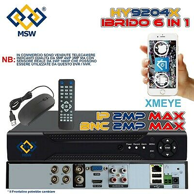 DVR NVR 4 AHD Canali 3.0 MPX 1080P 5 IN 1 IP Onvif P2P 5 IN Uno XMEYE Con Qcode